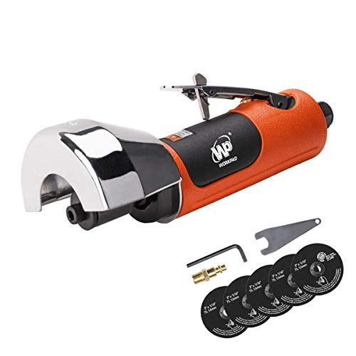 WORKPAD Air Cut Off Tool, Equipped with 5-Pieces 3' Cutting Disc Set, Pneumatic Tools