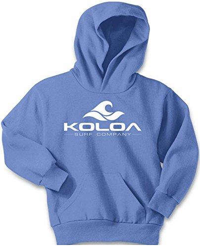 Koloa Wave Logo Youth Soft and Cozy Hoodies Size L-Carolina Blue