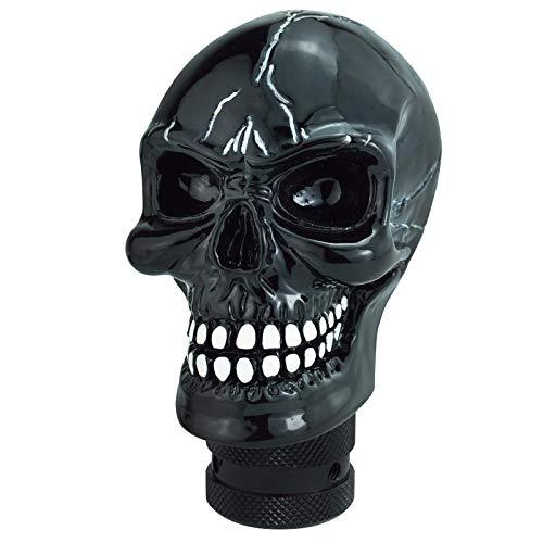 Lunsom Skull Shifter Head Knob Resin Car Transmission Shift Stick Handle Shifting Head Fit Most Automatic Manual Vehicle (Black)