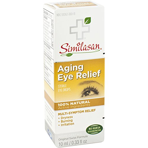 Similasan Aging Eye Relief 0.33 Fluid Ounce, for Temporary Relief from Dry Eyes, Irritated Eyes, Burning Eyes, Cloudy Vision or Blurry Vision, Formulated with Natural Active Ingredients