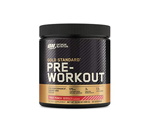 Optimum Nutrition Gold Standard Pre Workout Advanced, with Creatine, Beta-Alanine, Micronized L-Citrulline and Caffeine for Energy, Keto Friendly, Fruit Punch, 300 g/10.58 oz., 30 servings
