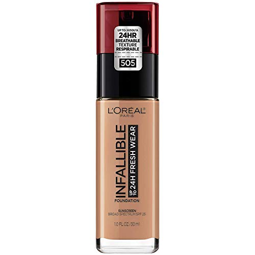 L'Oreal Paris Makeup Infallible Up to 24 Hour Fresh Wear Foundation, Toffee, 1 fl; Ounce
