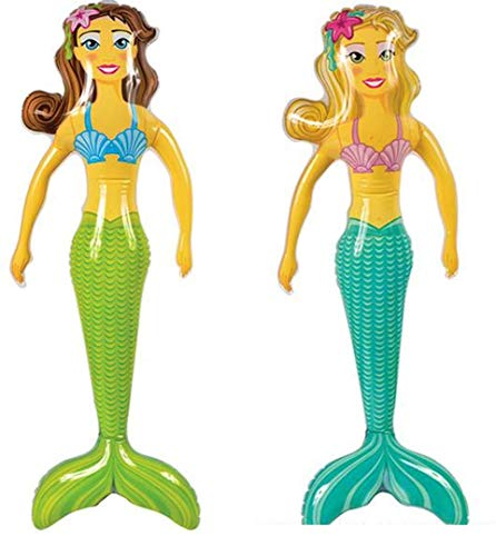 Novelties company Large 36 Inch Inflatable Mermaid Toy Blowup Doll