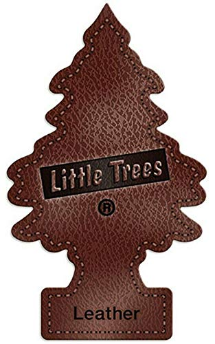 LITTLE TREES Car Air Freshener | Hanging Paper Tree for Home or Car | Leather | 12 Pack