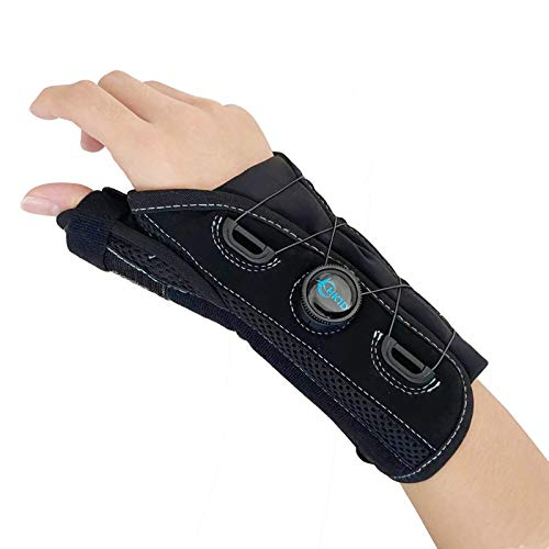 Thumb and Wrist Spica Splint with Advanced BOA Technology Brace for Arthritis, Tendonitis, Carpal Tunnel Syndrome Pain Relief(Right/Size M/L)