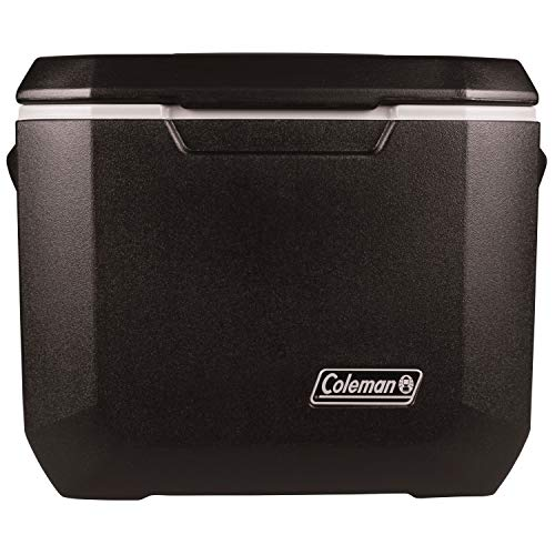 Coleman Rolling Cooler   50 Quart Xtreme 5 Day Cooler with Wheels   Wheeled Hard Cooler Keeps Ice Up to 5 Days, Black