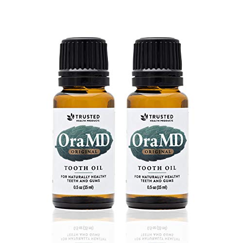 OraMD Original Dentist Recommended Toothpaste and Mouthwash Alternative for Healthy Gums & Teeth Mouthwash Breath Freshener for Bad Breath Halitosis- (15mL) - 2 Bottles