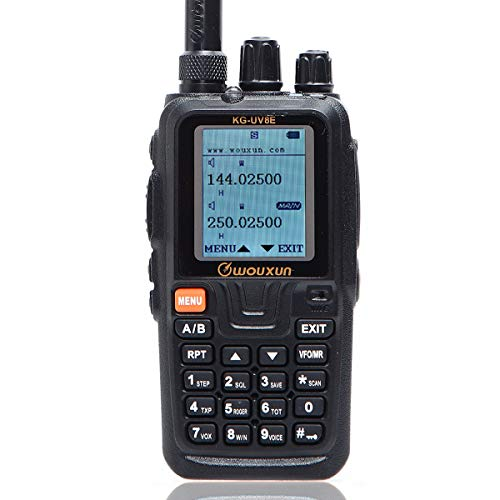 Wouxun KG-UV8E Tri-Band 136-174/220-260/400-520MHz Cross Band Repeater Duplex Work Mode 999CH VOX SOS CTCSS/DCS Ham Two Way Radio