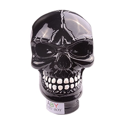 AutoBoy ABy Skull Head Gear Stick Shift Shifter Knob Lever Cover Universal Fit for Most Manual Transmission Vehicles(Black)