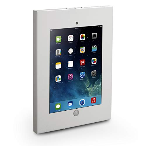 Anti-Theft Tablet Security Case Holder - 11 Inch Metal Heavy Duty Vesa Wall Mount Tablet Kiosk w/Lock and Key, Landscape/Portrait Mounting, for iPad 2, 3, 4, Air, Air 2 Tablets - Pyle PSPADLKW08W