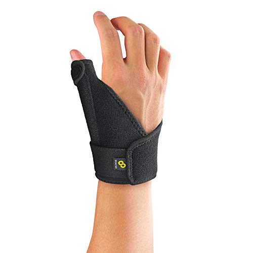 Bracoo Thumb Stabilizer Support Brace, Spica, CMC Splint for Arthritis, De Quervain's, Carpal Tunnel Pain Relief, Reversible, Black, TP30