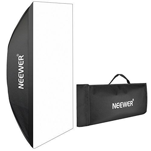 Neewer Portable Rectangular Softbox with Bowens Mount 60 X 90cm / 23.6' X 35.4' for Canon Nikon 300w 400W 600w 800W 1000w Studio Flash