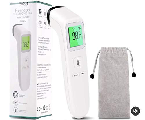 American Living Essentials Medical Grade Non-Contact Infrared Thermometer for Body, Surface, & Room. Accurate Fever Detection for Babies & Adults