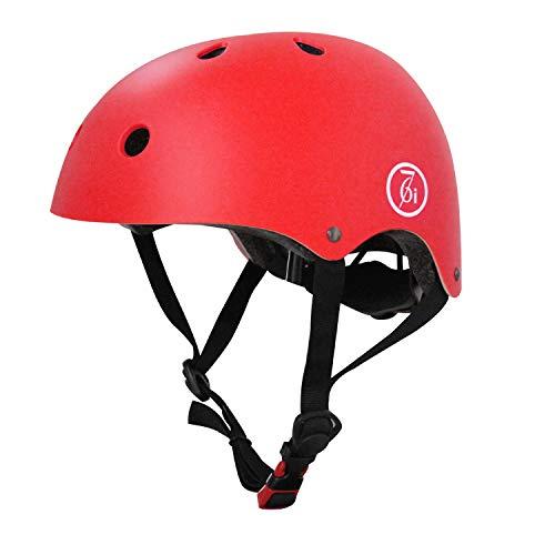 67i Skateboard Helmet Adult Bike Helmet CPSC Certified Adjustable and Protection for Skating Helmet Adults Multi-Sports Cycling Skateboarding Scooter Roller Skate Inline Skating Rollerblading (Red)