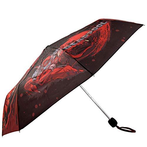 Marvel Comics Deadpool Superhero Collapsible Mini Umbrella (Youth/Mens)