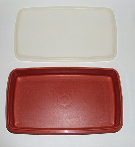 Vintage Tupperware, Paprika Red, Meat Cheese or Deli Keeper