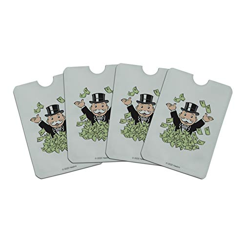 Monopoly Man Money Credit Card RFID Blocker Holder Protector Wallet Purse Sleeves Set of 4