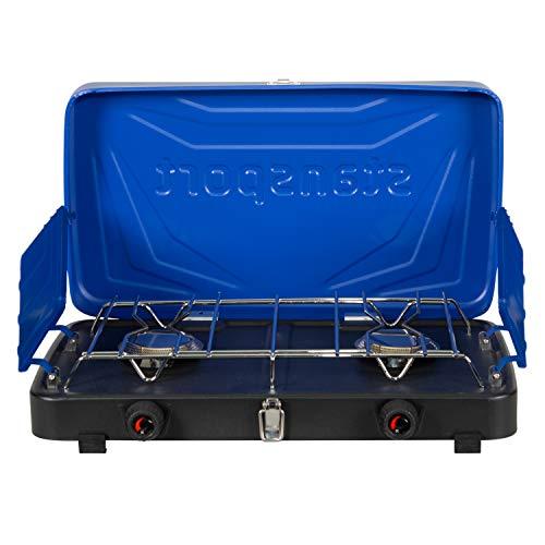 Stansport 2-Burner Regulated Propane Stove - Blue, 10' L x 18' W x 4' H