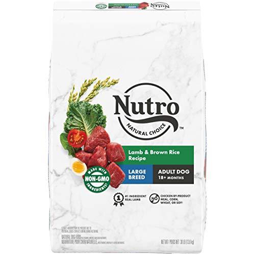 NUTRO NATURAL CHOICE Large Breed Adult Dry Dog Food, Lamb & Brown Rice Recipe Dog Kibble, 30 lb. Bag