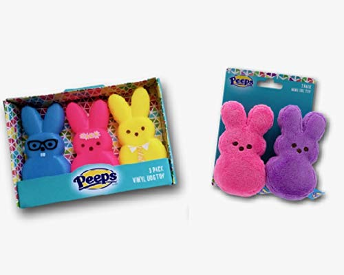 Peeps Bunny Squeaky Toys Dog Toy Bundle