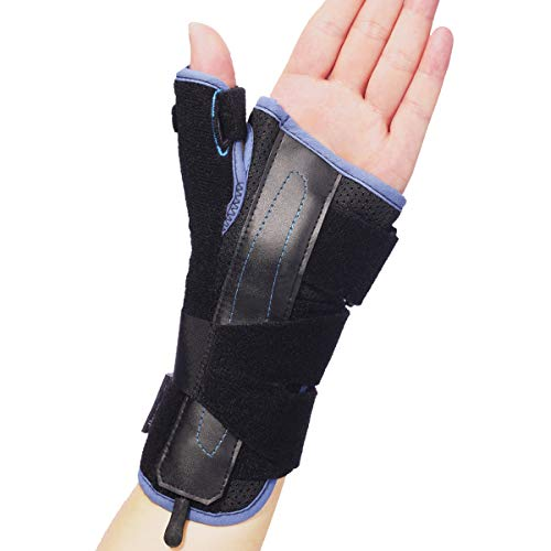 Velpeau Wrist Brace Thumb Spica Splint Support for De Quervain's Tenosynovitis, Carpal Tunnel Syndrome, Stabilizer for Arthritis, Tendonitis, Sprains, Sports Injuries Pain Relief (Left Hand-S)