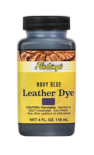 Fiebing's Leather Dye - Alcohol Based Permanent Leather Dye - 4 oz - Navy Blue