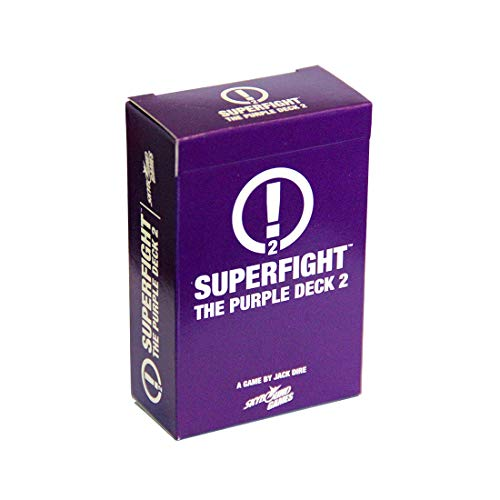 Superfight Purple Deck 2: 100 New Scenario Cards for The Game of Absurd Arguments, for Kids Teen and Adults, 3 or More Players Ages 8+