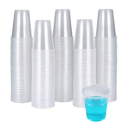 300 Pack 3 OZ Clear Plastic Cups,Disposable Bathroom Mouthwash Cups, Small Plastic Cups-Espresso Cups Ideal for Drinking Tasting, Food Samples