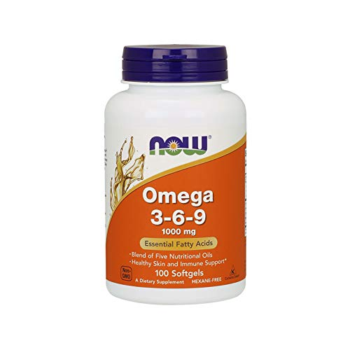 Now Foods Supplements, Omega 3-6-9 1000 mg with a blend of Flax Seed, Evening Primrose, Canola, Black Currant and Pumpkin Seed Oils, 100 Softgels