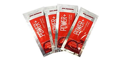 Power+Delay Cream for Men (4 Pack) (Enhancement Cream for Men) Male Genital Desensitizer Numbing Cream to Last Longer. Helps Men Last Longer in Bed