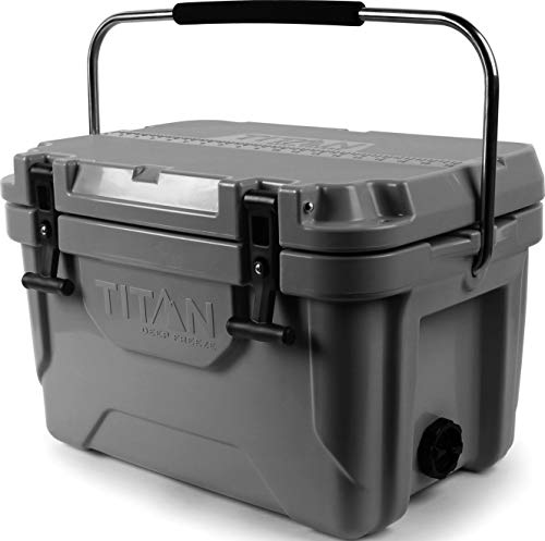 Arctic Zone Titan Deep Freeze 20Q Premium Ice Chest Roto Cooler with Microban Antimicrobial Protection, Gray