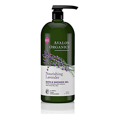 Avalon Organics Bath & Shower Gel, Nourishing Lavender, 32 Oz