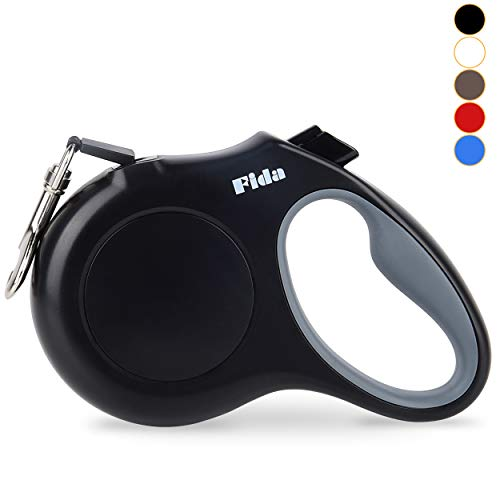 Fida Retractable Dog Leash, 16 ft Dog Walking Leash for Small Dogs up to 26 lbs, 360° Tangle Free, Black