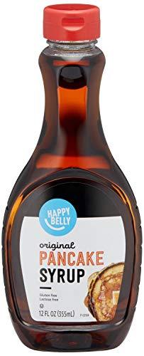 Amazon Brand - Happy Belly Pancake Syrup, Original Flavor, 12 Fl Oz
