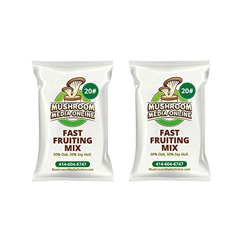 Fast Fruiting aka Masters Mix (50% Oak/50% Soy Hull Pellets) 40 Pounds