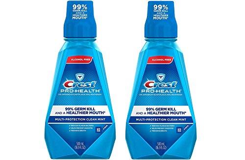 Crest Pro Health Multi Protection Clean Mint Mouthwash, 16.9 Ounces (Pack of 2)