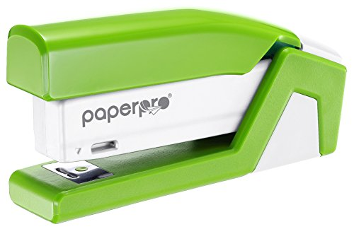 PaperPro inJOY20 - 3 in 1 Stapler - One Finger, No Effort, Spring Powered Stapler - Green (1513)