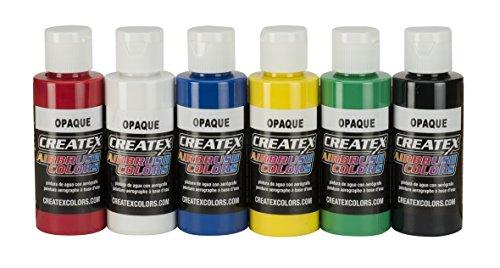 Createx Colors 5803-00 2 oz Opaque Airbrush Paint Set, 2 Ounce, Multicolor, 12 Fl Oz