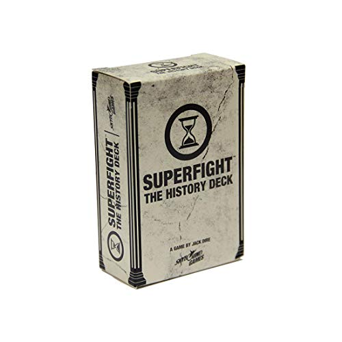 Superfight History Deck: 100 Historical Themed Cards for The Game of Absurd Arguments |Family Friendly Game of Super Powers & Super Problems, for Kids Teens Adults, 3 or More Players, Ages 8+
