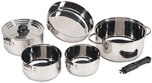 STANSPORT - Heavy Duty 7-Piece Stainless Steel Clad Cookware Set