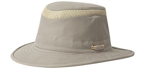 Tilley T5MO Organic Cotton Airflo Hat, Khaki With Olive Underbrim, 7 1/2