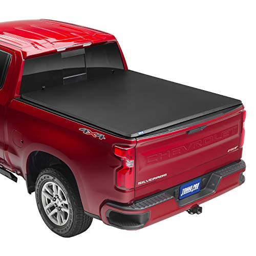 Tonno Pro Hard Fold, Hard Folding Truck Bed Tonneau Cover   HF-167   Fits 2019 - 2021 GMC Sierra & Chevrolet Silverado 1500 'New Body Style' (w/o factory side storage boxes) 6' 7' Bed (79.4')