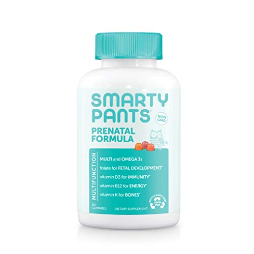 SmartyPants Prenatal Formula Daily Gummy Vitamins, 80 Count (Pack of 1) - Packaging May Vary