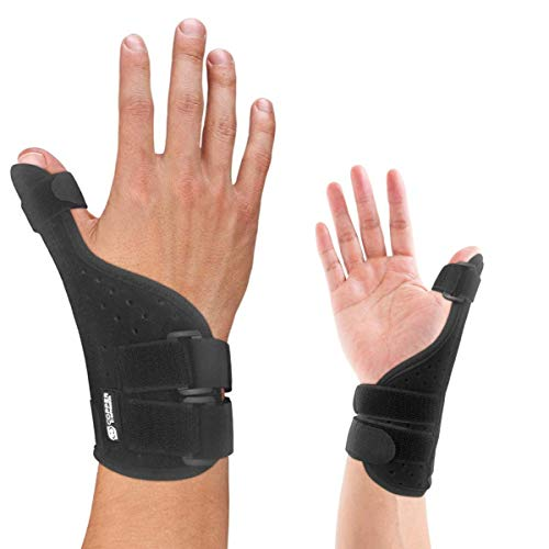 Copper Compression Long Thumb Brace - Guaranteed Highest Copper Thumb Spica Splint for Arthritis, Tendonitis. For Both Right Hand and Left Hand. Wrist, Hands, and Thumb Stabilizer and Immobilizer