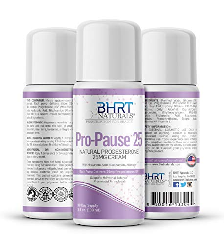 BHRT Naturals Progesterone Cream 2500mg Bioidentical Progesterone USP Natural - 90 Day Supply, USA Made, Pharmacist Formulated Paraben-Free, Soy-Free & Non-GMO Menopause Relief – TTC PCOS Supplement
