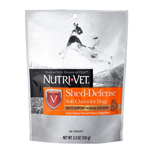 Nutri-Vet Shed Defense for Dogs|Formulated with Omega-3 & 6 Fatty Acids|5.3 Ounces