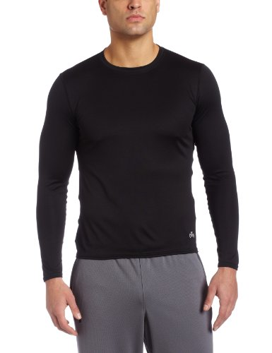 Hot Chillys Men's Peach Crewneck Tee (Black, X-Large)