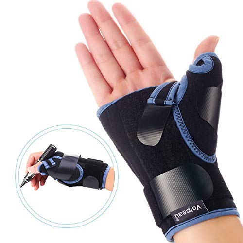 VELPEAU Wrist Brace with Thumb Spica Splint for De Quervain's Tenosynovitis, Carpal Tunnel Pain, Stabilizer for Tendonitis, Arthritis, Sprains & Fracture Forearm Support Cast (Short, Right Hand-M)