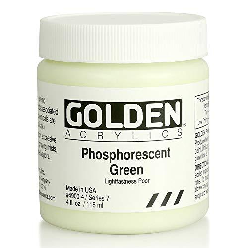 Golden Artist Colors 4 Oz Phosphorescent Green Acrylic Color Paint