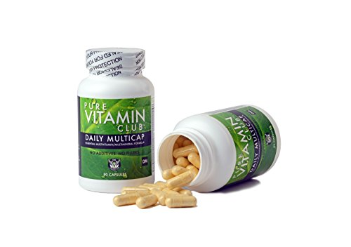 Daily Multivitamins - 90 Day Supply - NO Fillers, NO Binders, NO Added Ingredients. Simply The Perfect Blend of Vitamins and Minerals to Supplement a Balanced Diet. Pure Vitamin Club Daily Multicaps.
